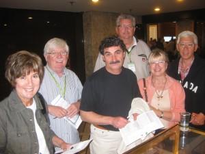Susan, Maurice, Dan, Josef, Pony and Michael.